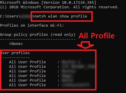 wifi profiles using cmd